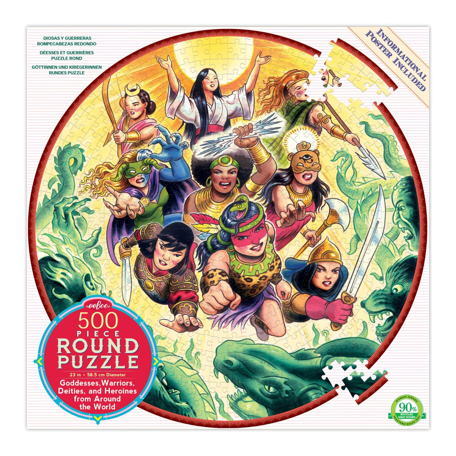 Goddesses and Warriors Puzzle by Eeboo