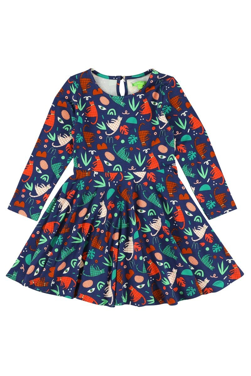 Groovy Cats Twirl Dress by Lily Balou