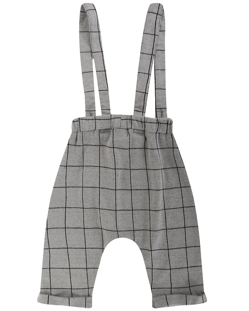 Jaquard Check Trousers With Suspenders by Turtle Dove