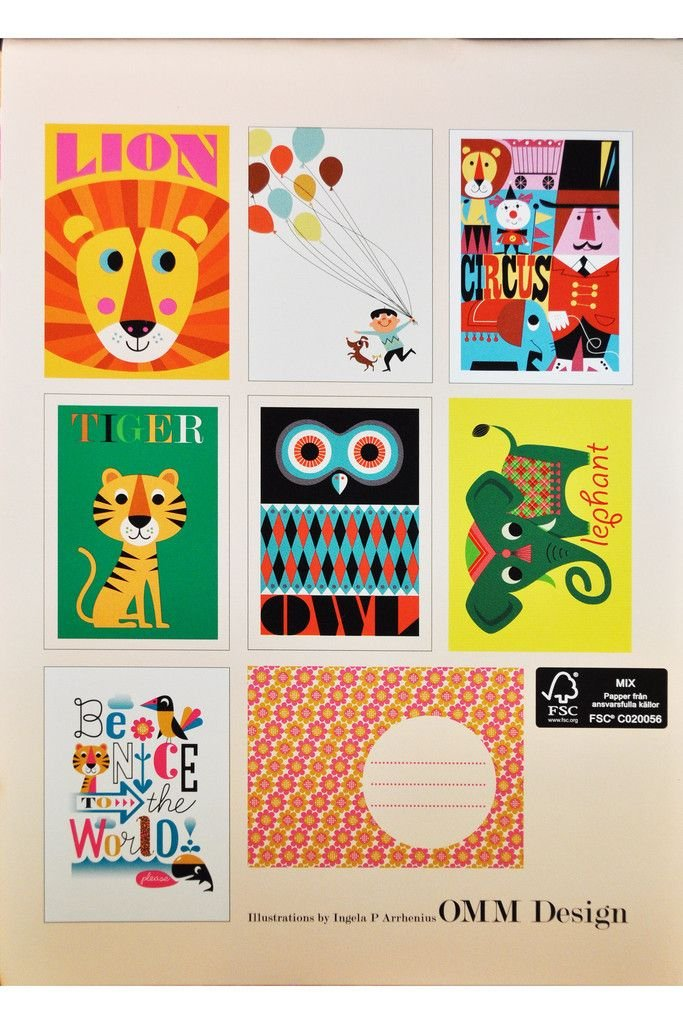 Hello Postcard Set by OMM Design