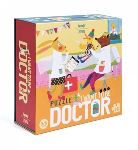 I Want to Be Doctor 36 Piece Puzzle by Londji