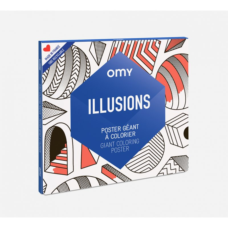 Giant Coloring Poster - Illusions by OMY