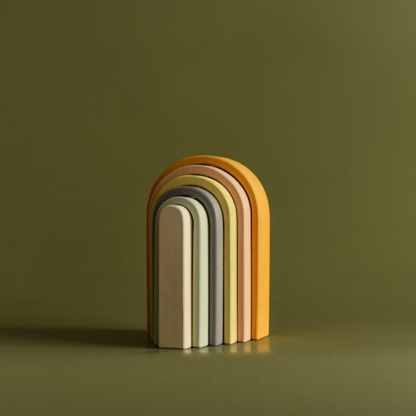 Stacking Rainbow - Small by MinMin Copenhagen