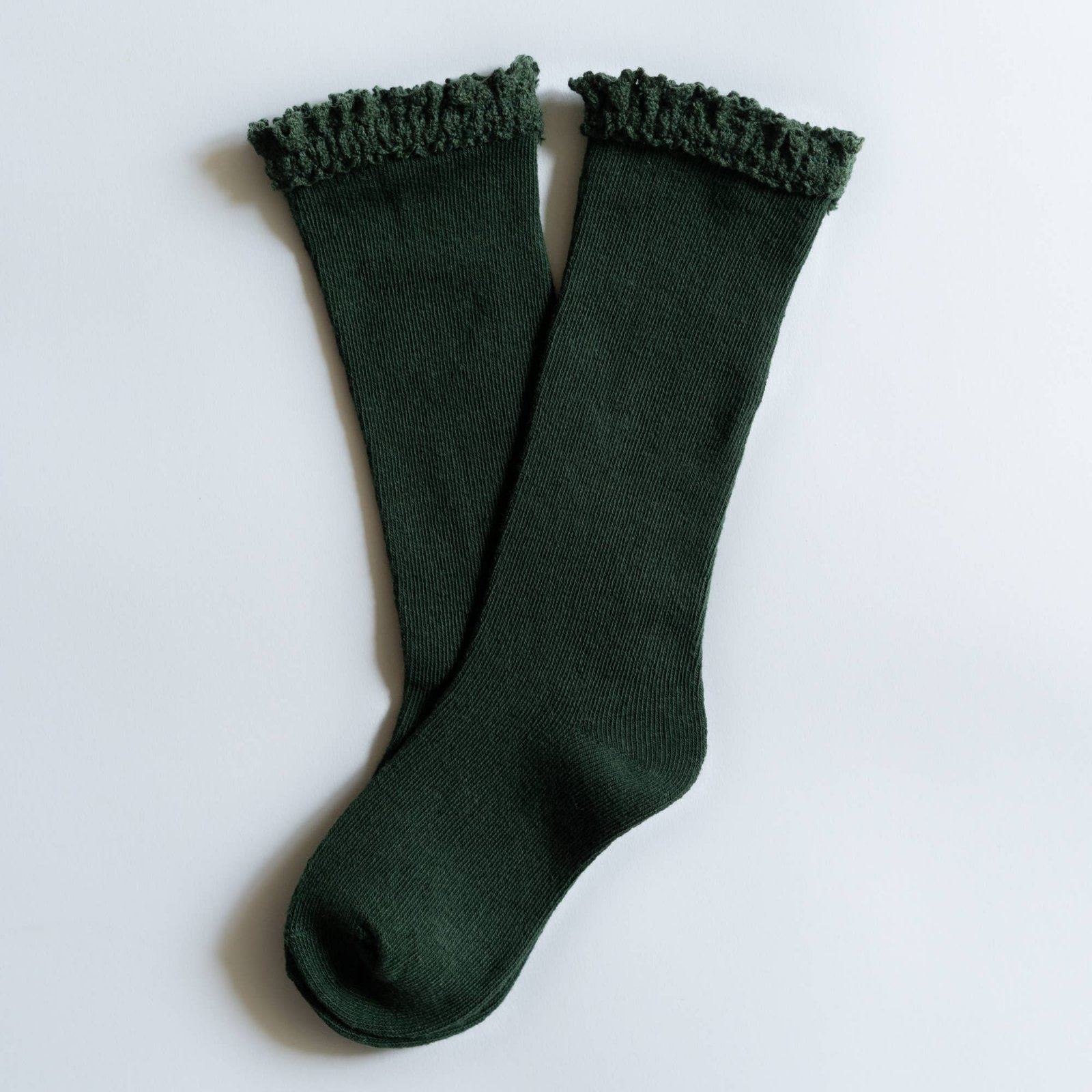 Lace Knee Highs - Forest Green by Little Stocking Co.