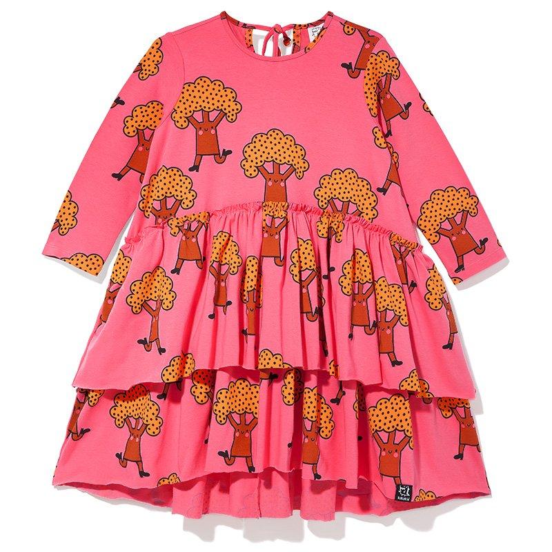 Pep Squad Trees Ruffle Dress by Kukukid