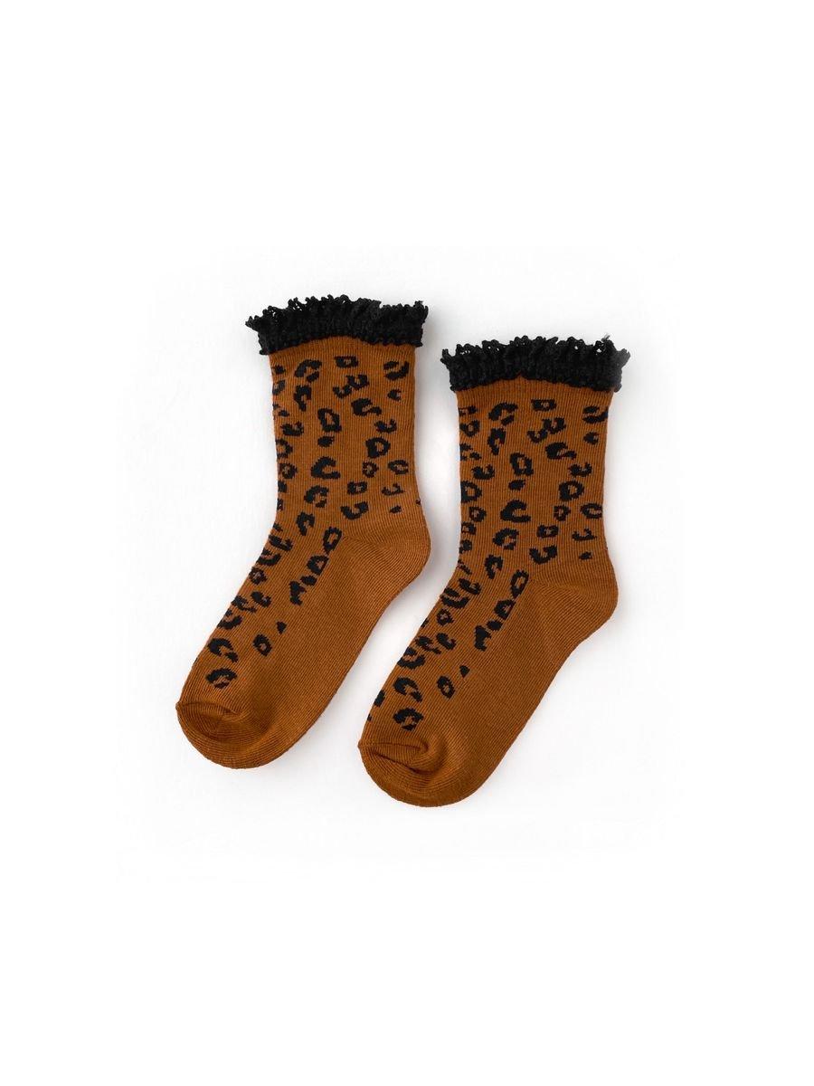 Midi Sock - Leopard by Little Stocking Co.