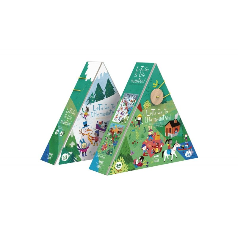 Let's Go To The Mountain Double-Sided Puzzle by Londji