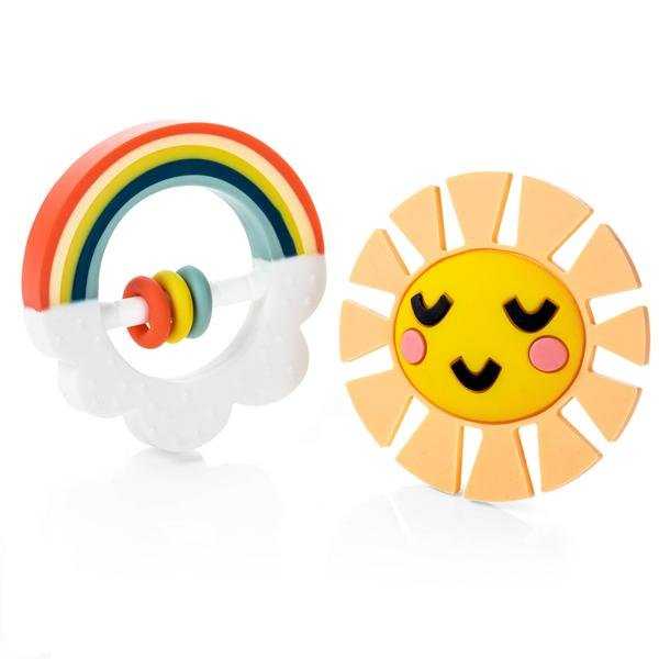 Teether Set - Little Rainbow by Lucy Darling