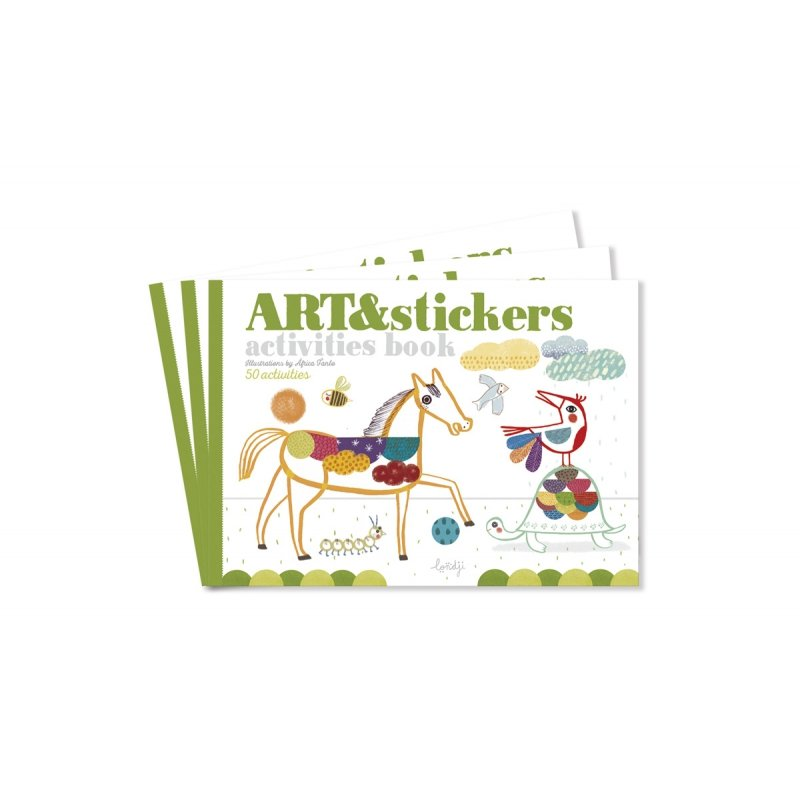 Art and Stickers Activities Book by Londji