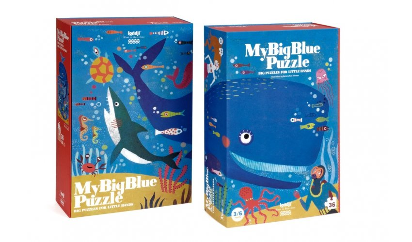 My Big Blue 36 Piece Puzzle by Londji