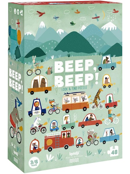 Beep Beep! Look & Find 48 Piece Puzzle by Londji