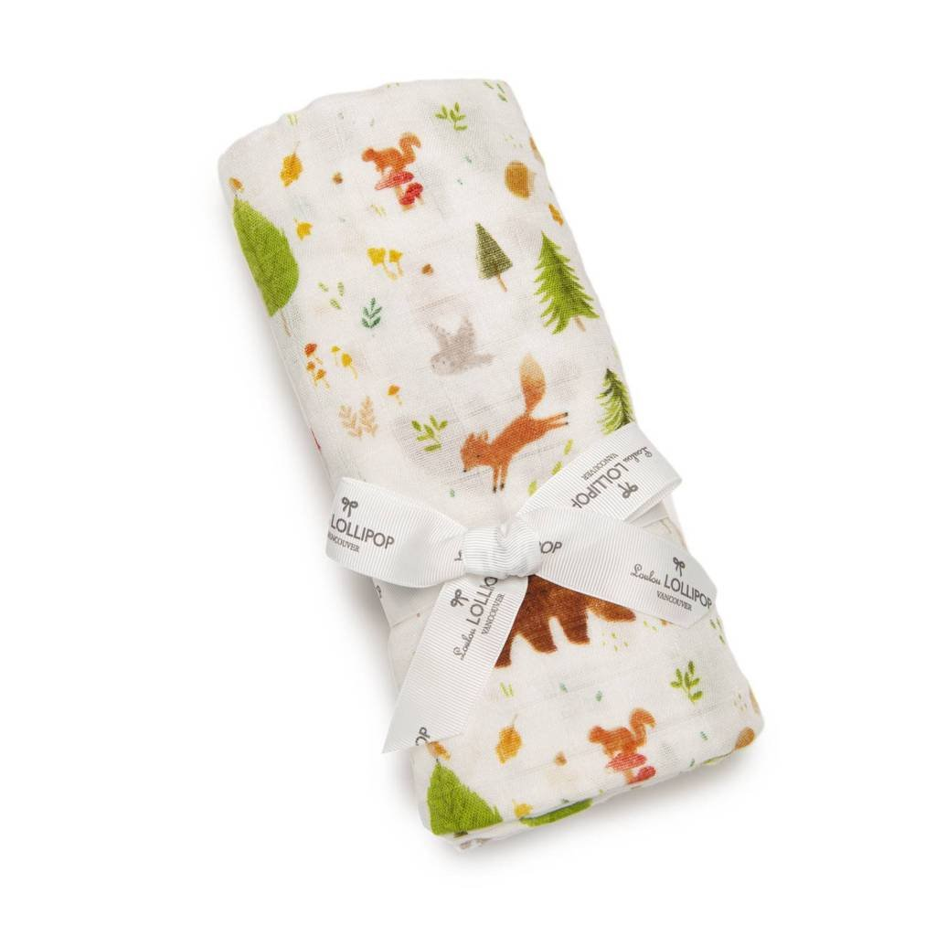 Swaddle - Forest Friends by Loulou Lollipop
