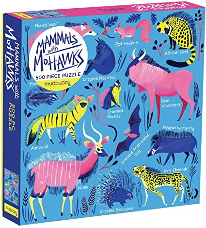 Mammals With Mohawks 500 Piece Puzzle by Mudpuppy