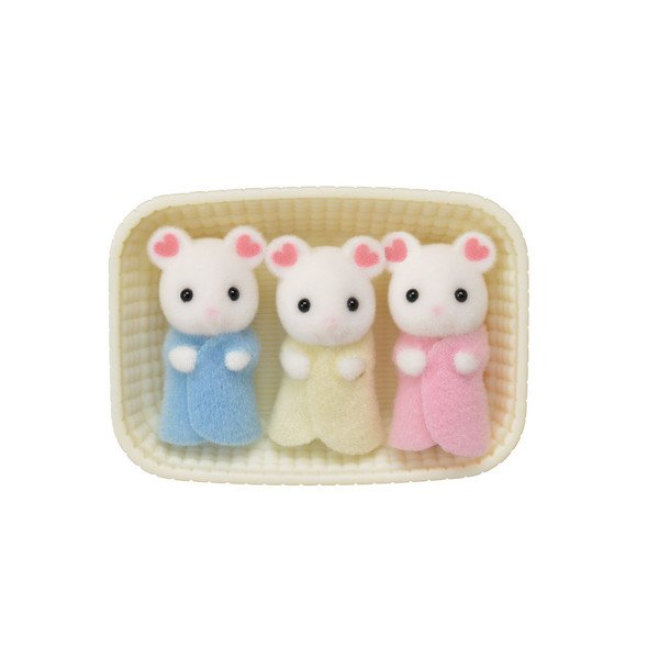 Marshmallow Mouse Triplets Calico Critters