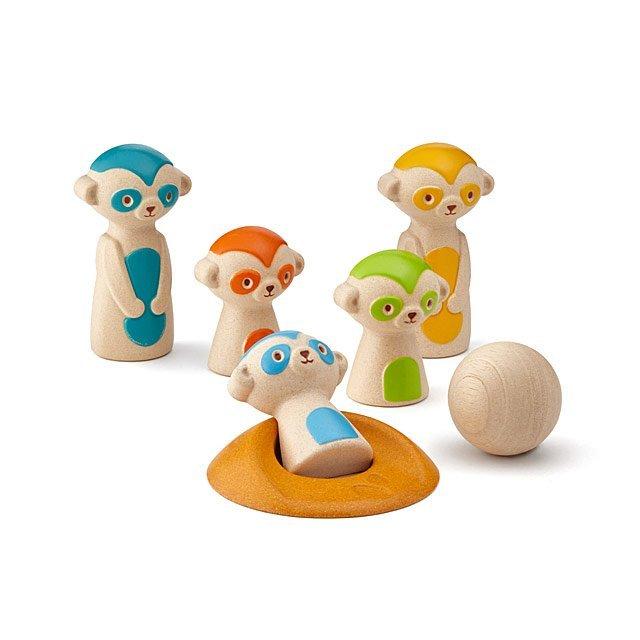 Meerkat Bowling by Plan Toys