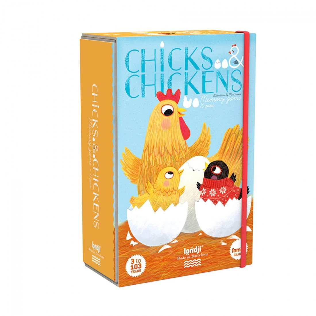 Chicks and Chickens Memory Game by Londji