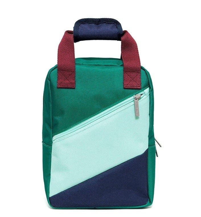 Mini Green Striped Backpack by Petit Monkey