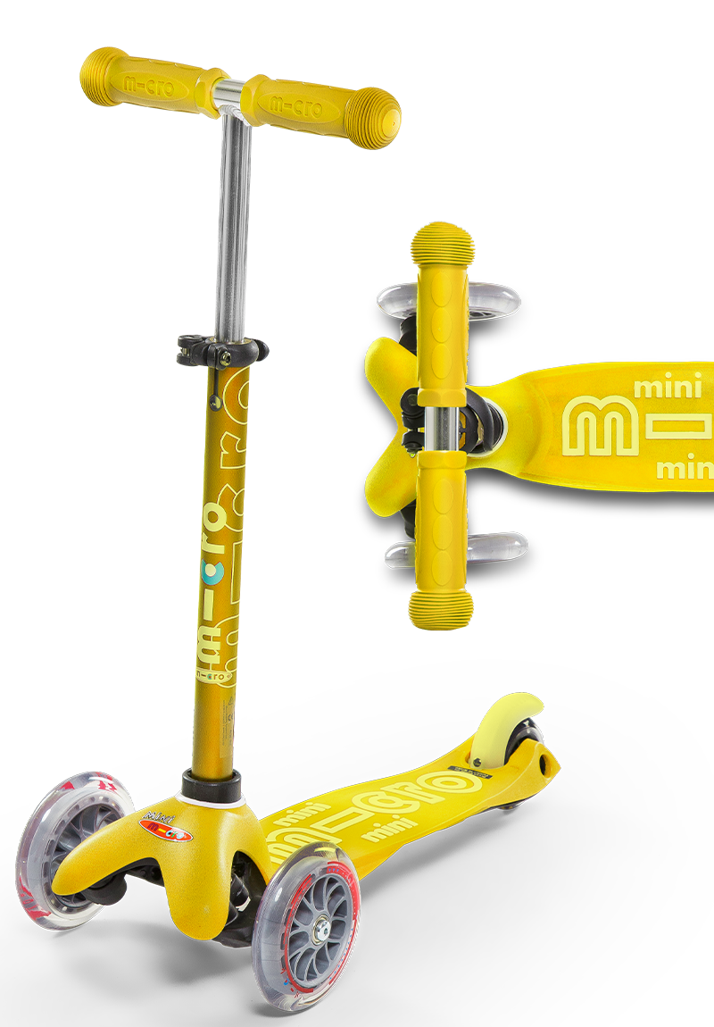 Mini Deluxe Scooter - Yellow by Micro Kickboard