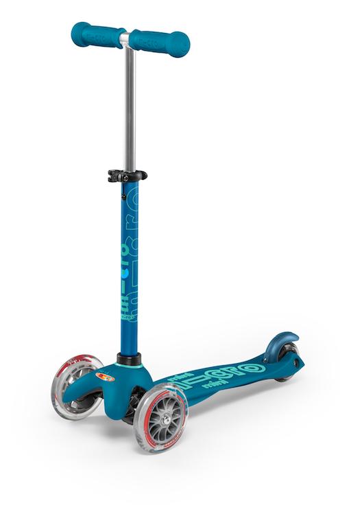 Mini Deluxe Scooter- Ice Blue by Micro Kickboard
