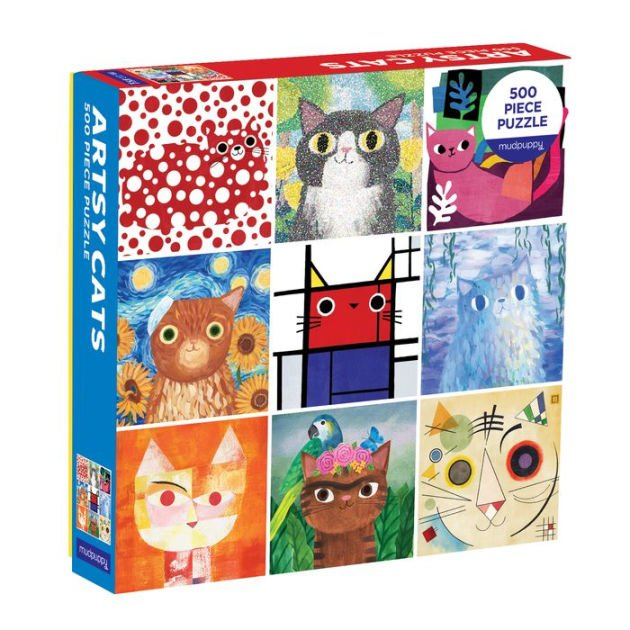 Artsy Cats 500 Piece Puzzle by Mudpuppy