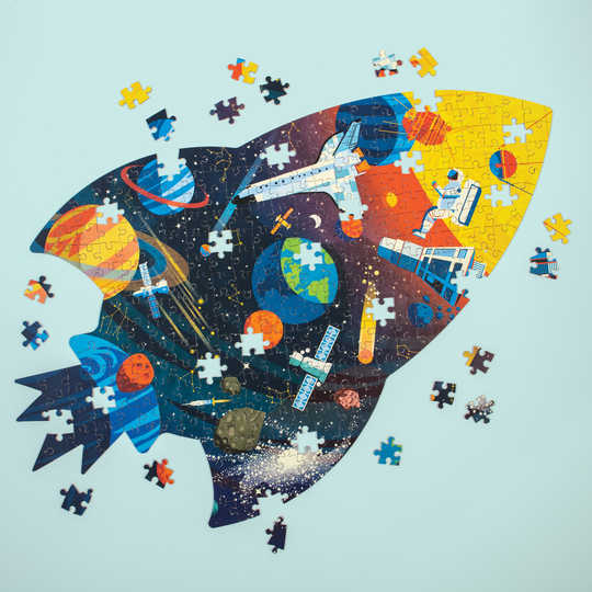 Outer Space 300 Piece Shaped Puzzle by Mudpuppy