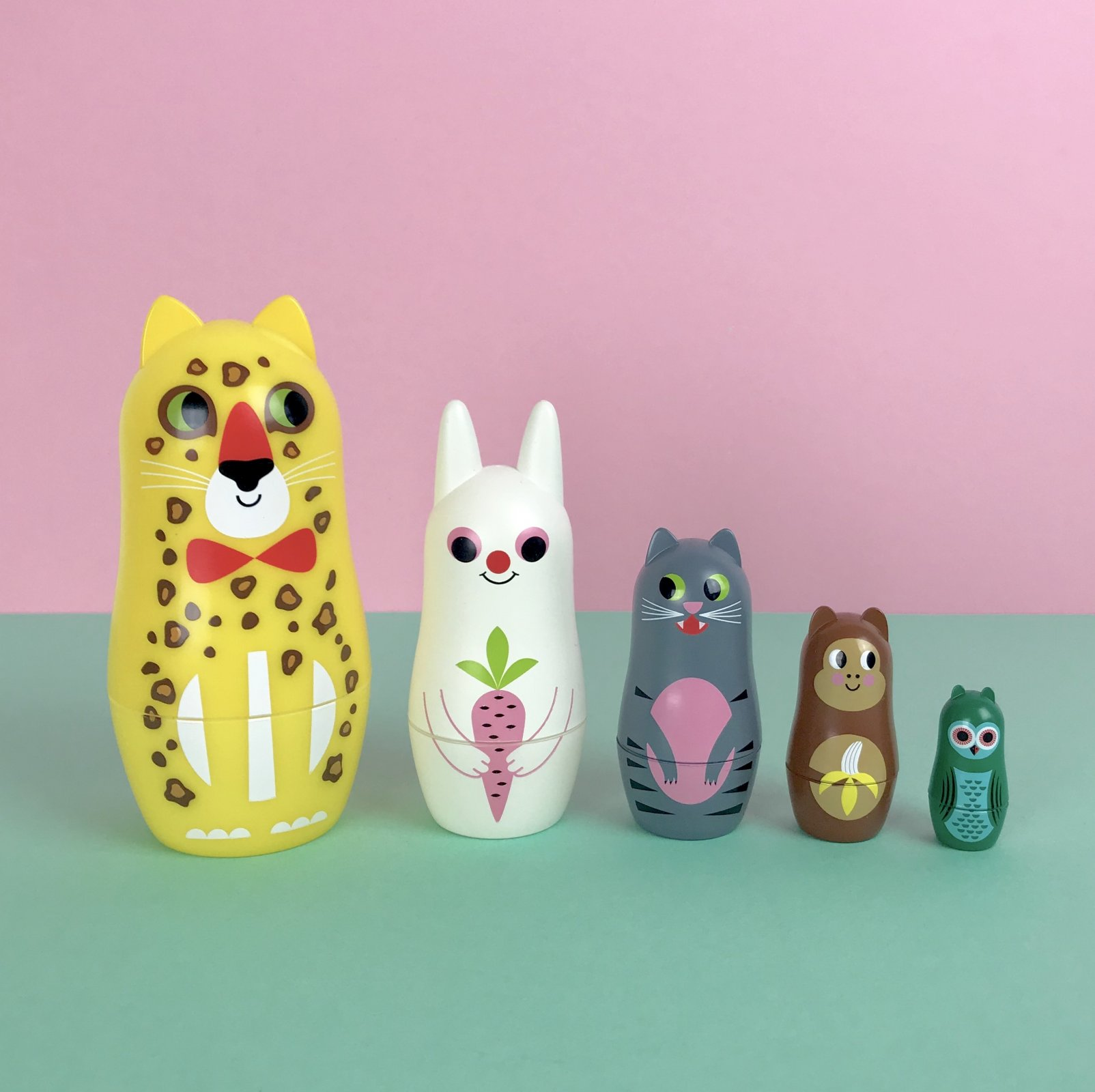 Animal Ears Nesting Dolls by OMM design
