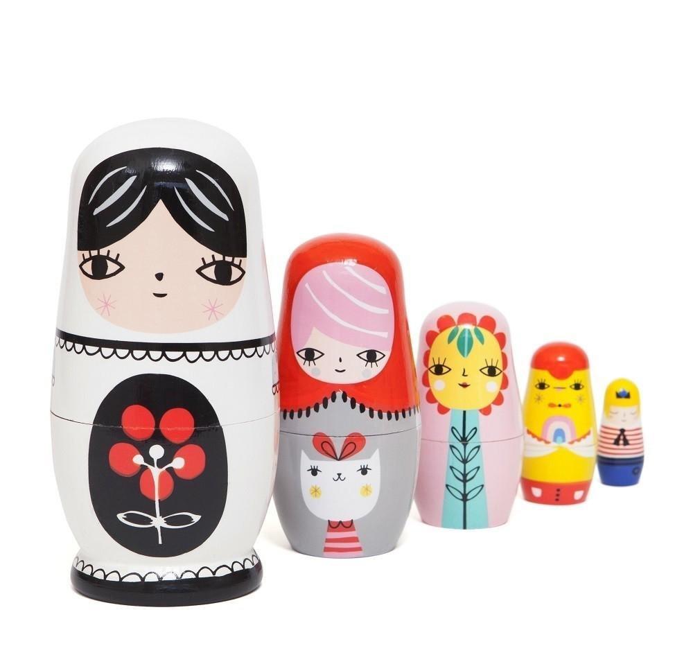 Suzy Ultman Fleur & Friends Nesting Dolls by Petit Monkey