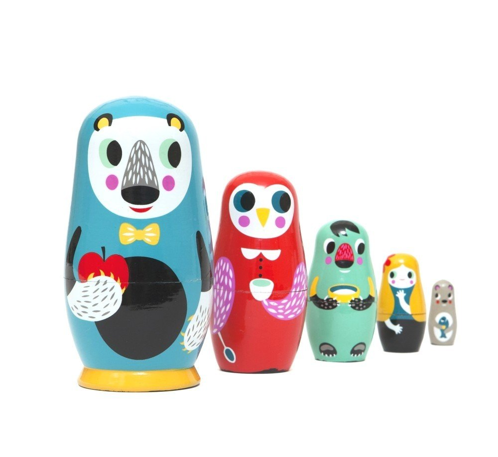 In The Woods Nesting Dolls by Petit Monkey