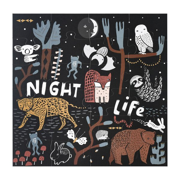 Large Floor Puzzle 24 Pieces - Night Life by Wee Gallery