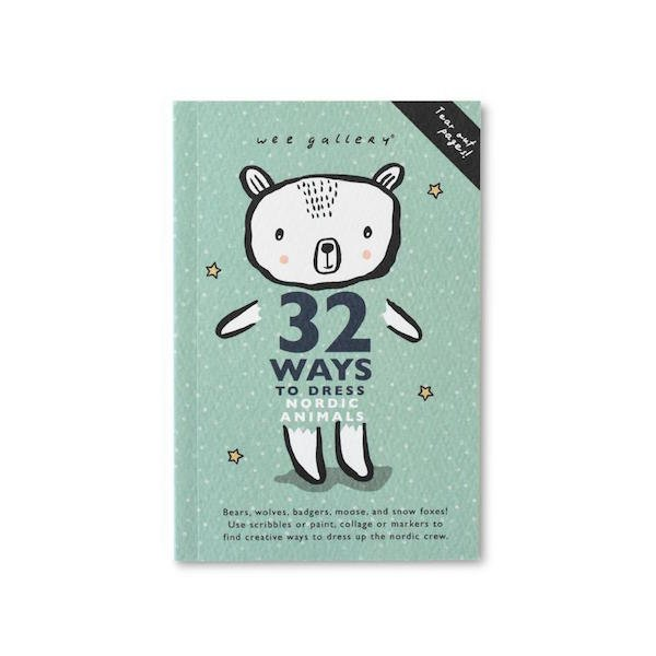 32 Ways To Dress Nordic Animals Activity Book by Wee Gallery
