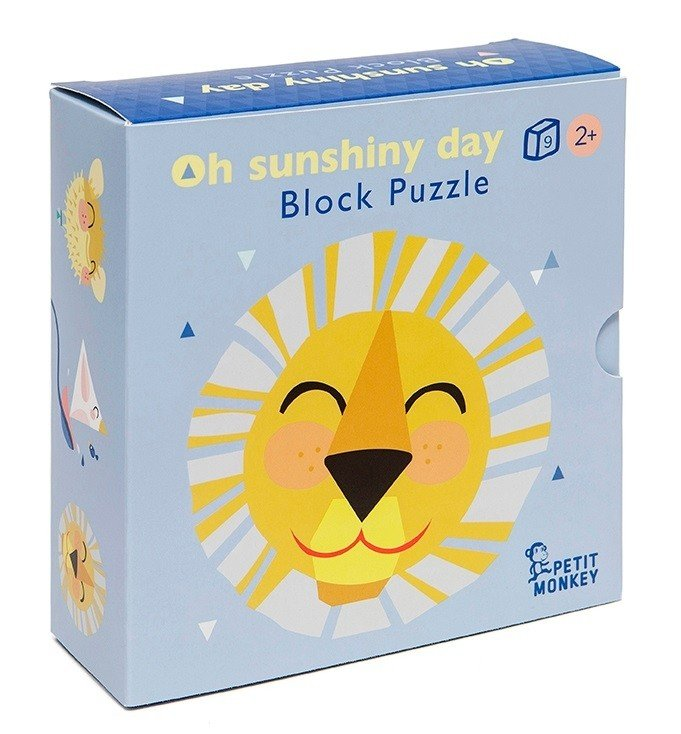Oh Sunshiny Day Block Puzzle by Petit Monkey