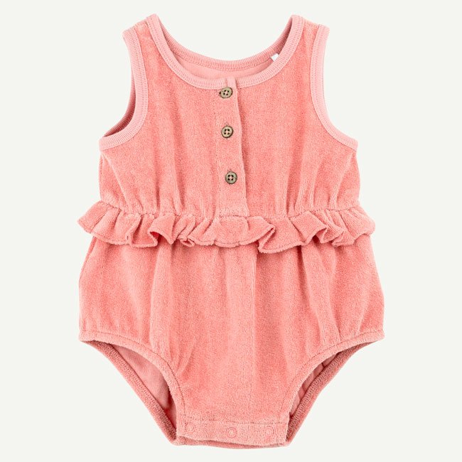 Coral Sea Bubble Romper by Oliver and Rain