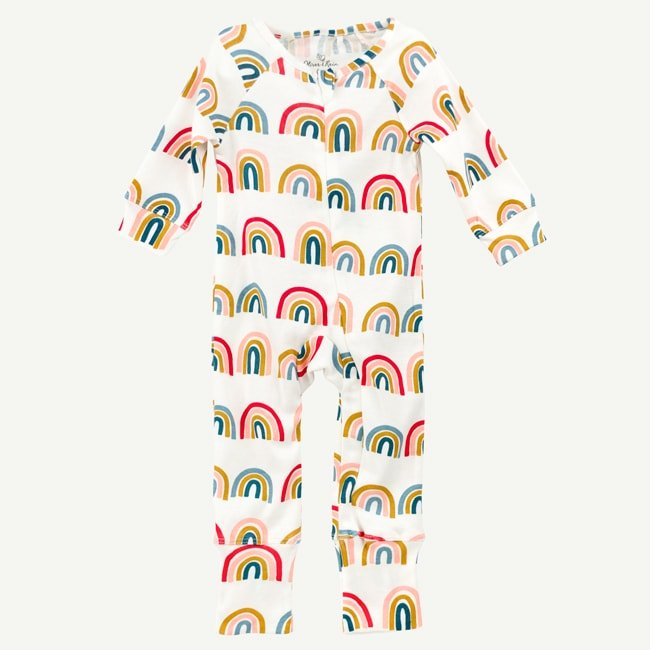 Rainbow Long Sleeved Romper by Oliver and Rain