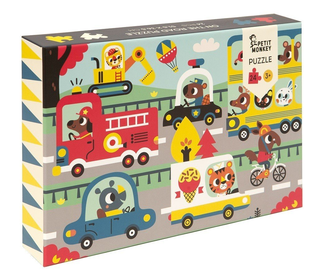 On The Road 24 Piece Puzzle by Petit Monkey