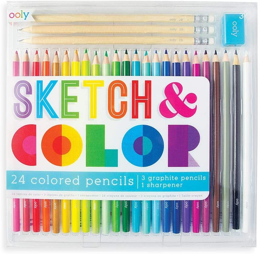 Sketch and Color Pencil Set by Ooly