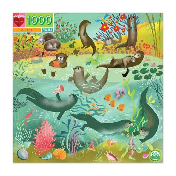 Otters 1000 Piece Puzzle by Eeboo