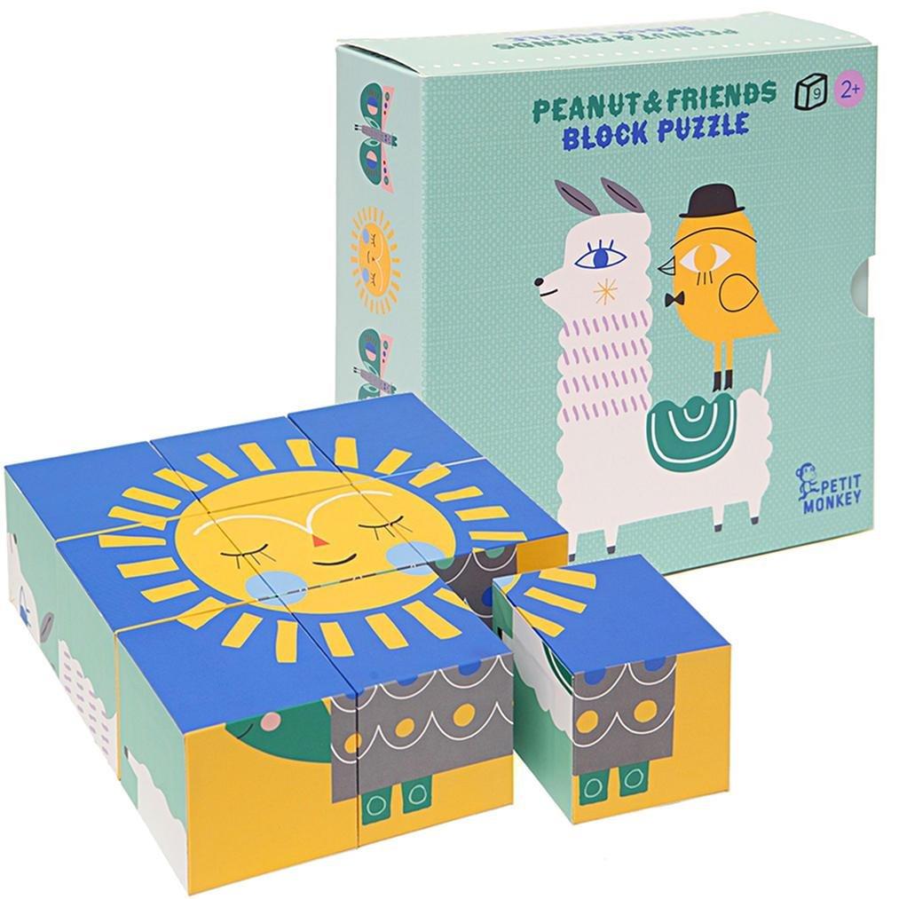 Peanut & Friends Block Puzzle by Petit Monkey