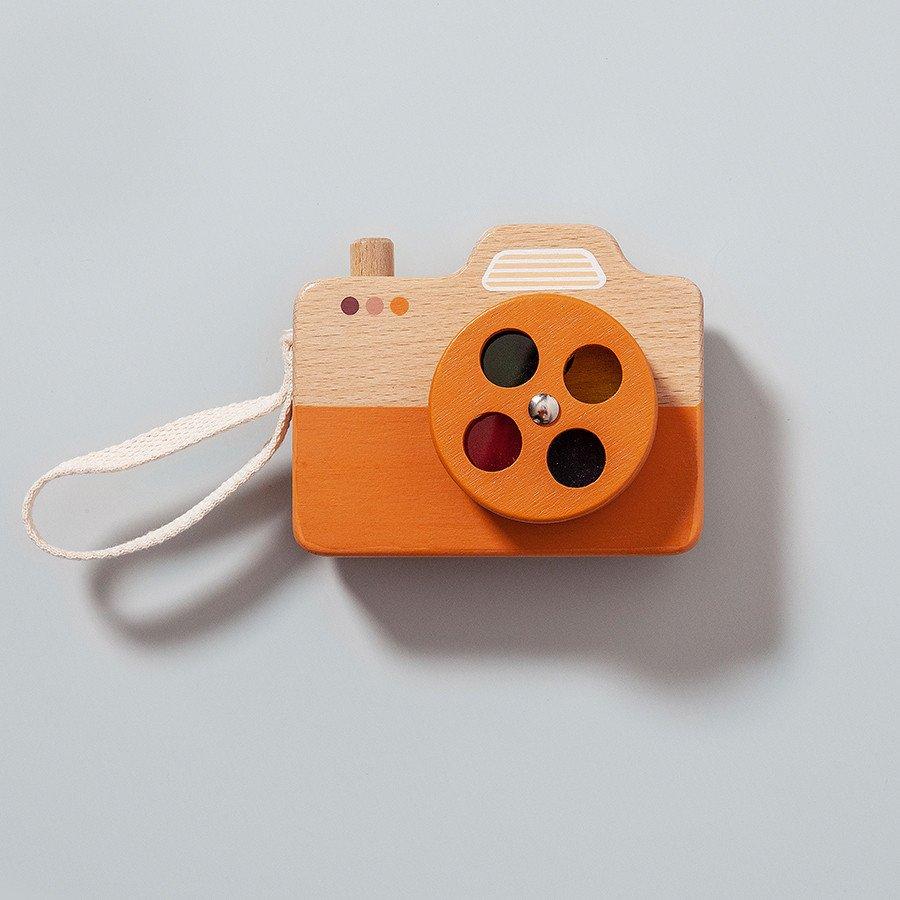 Wooden Camera - Orange by Petit Monkey