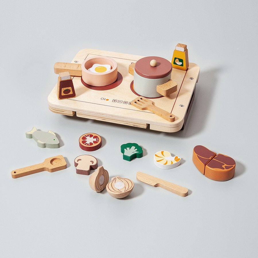 Wooden Play Food Set by Petit Monkey