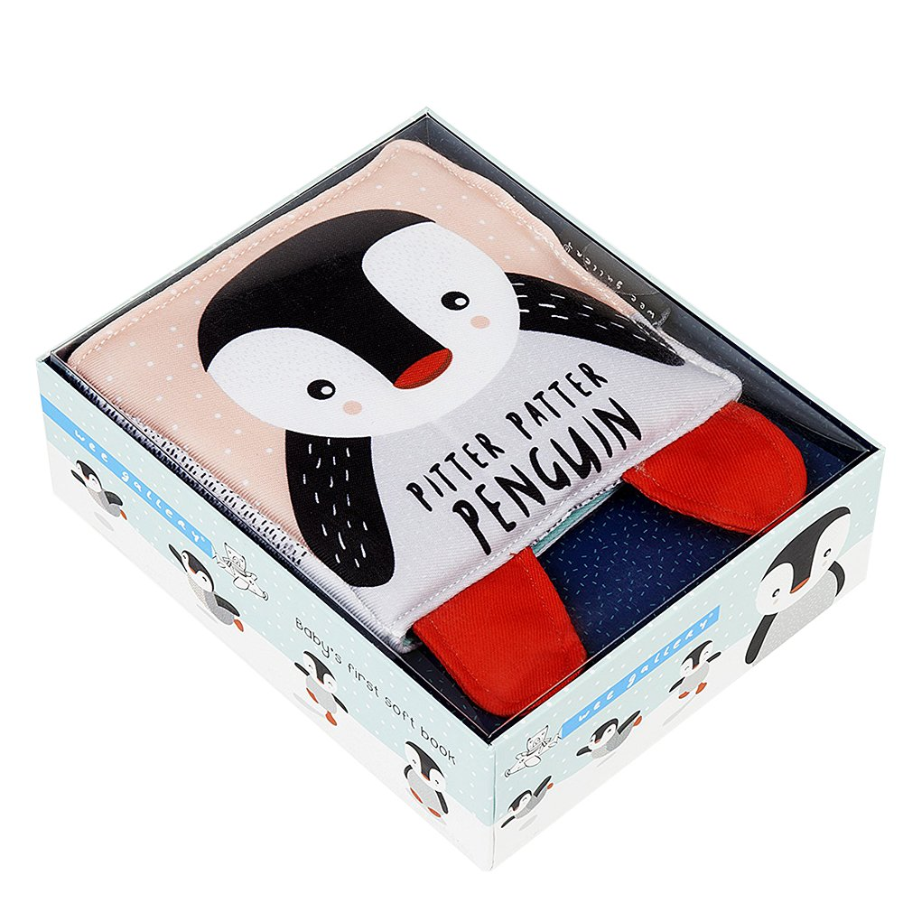 PItter Patter Penguin Soft Book by Wee Gallery
