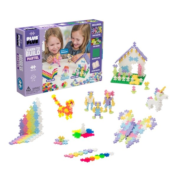 Pastel Learn to Build 400 Piece by Plus Plus