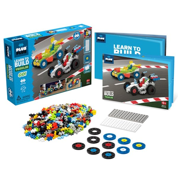 Vehicles Learn to Build 360 Piece by Plus Plus
