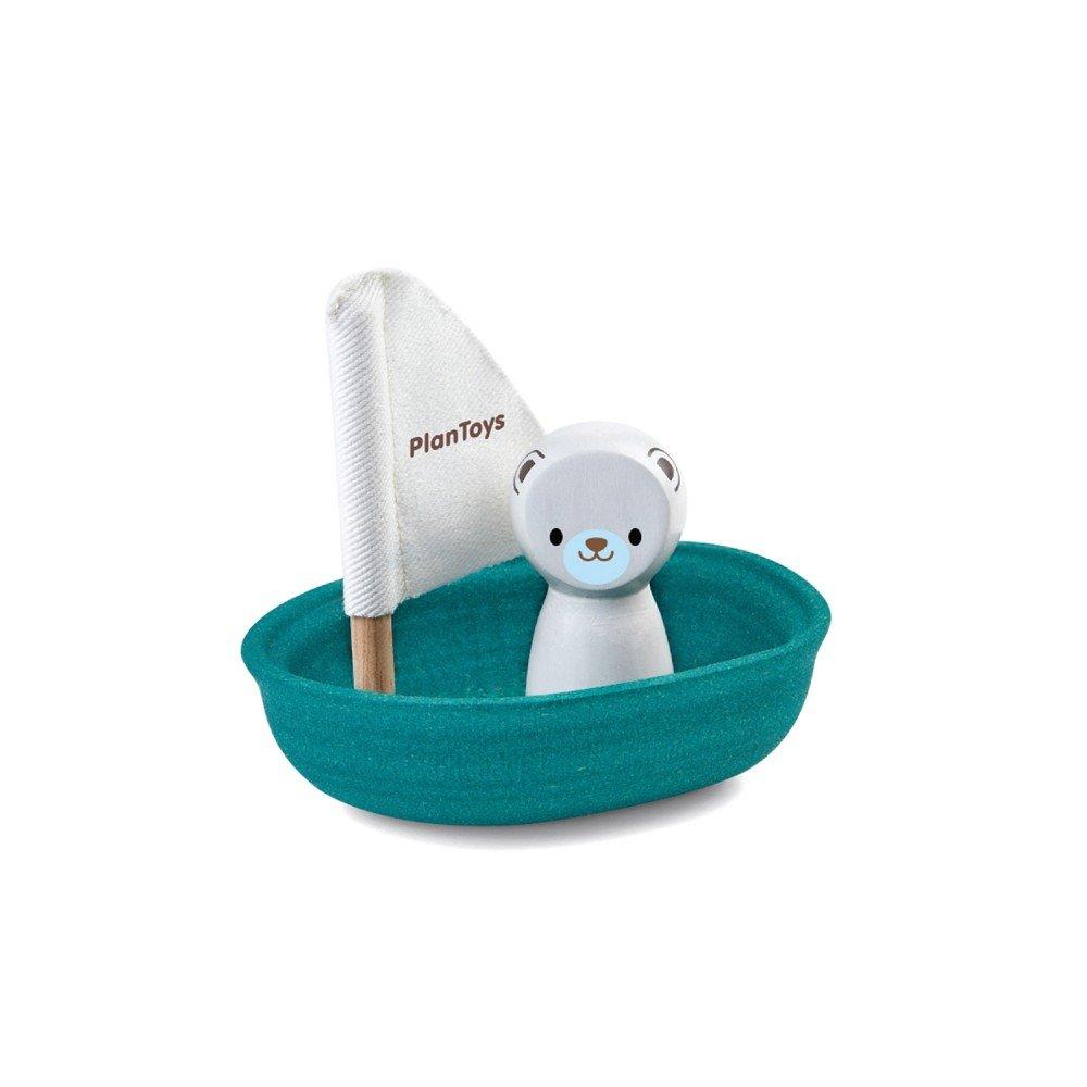 Polar Bear Sailing Boat by Plan Toys