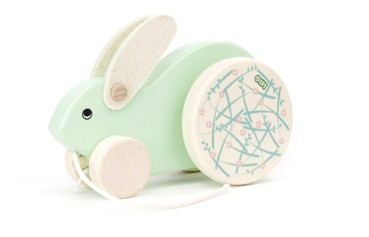 Mint Rabbit Pull Toy by Bajo