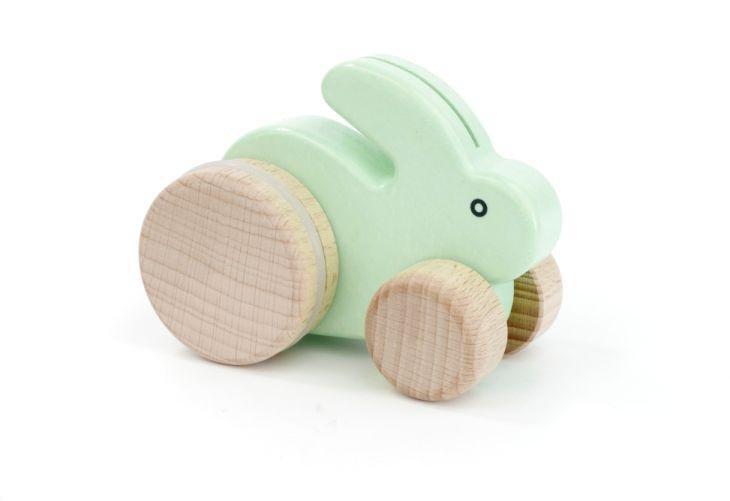 Push Along Rabbit - Mint by Bajo