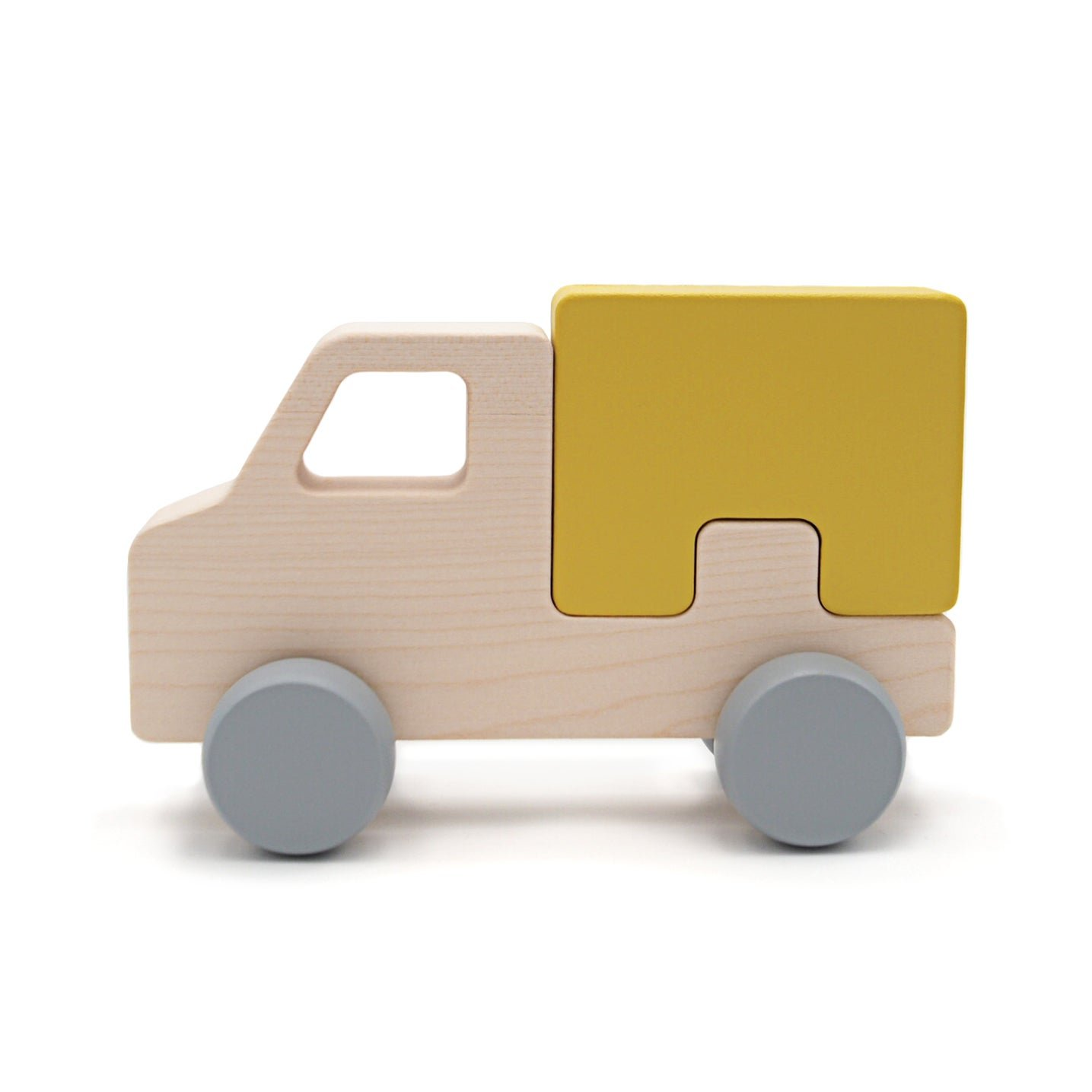 Yellow Puzzle Truck by Briki Vroom Vroom