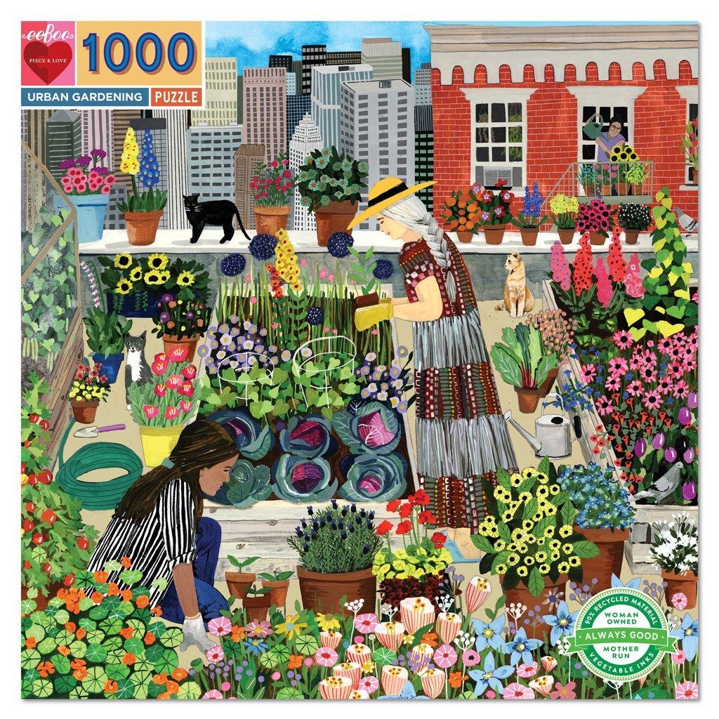 1000 Piece Urban Gardening Puzzle by Eeboo