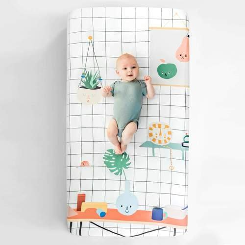 Crib Sheet - Baby's Room by Rookie Humans