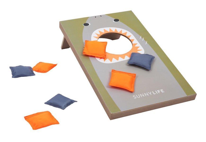 Mini Shark Cornhole Game by Sunnylife