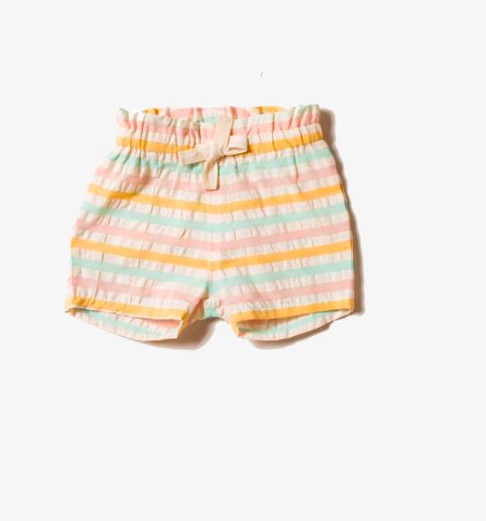 Pastel Stripe Shorts - Kids by Little Green Radicals